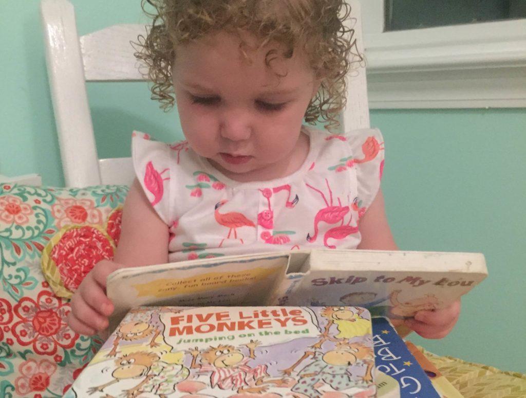 Sadie reading